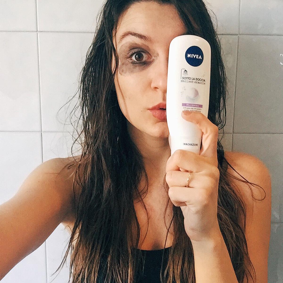 Nivea struccante sotto la doccia