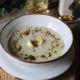 Crema di topinambur, uovo di quaglia e olio extravergine aromatizzato al tartufo